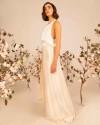 Modern silk wedding top ASTERIA