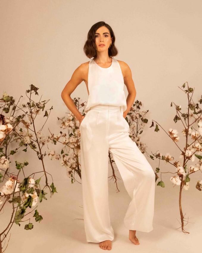 Silk bridal trousers ARTEMIS
