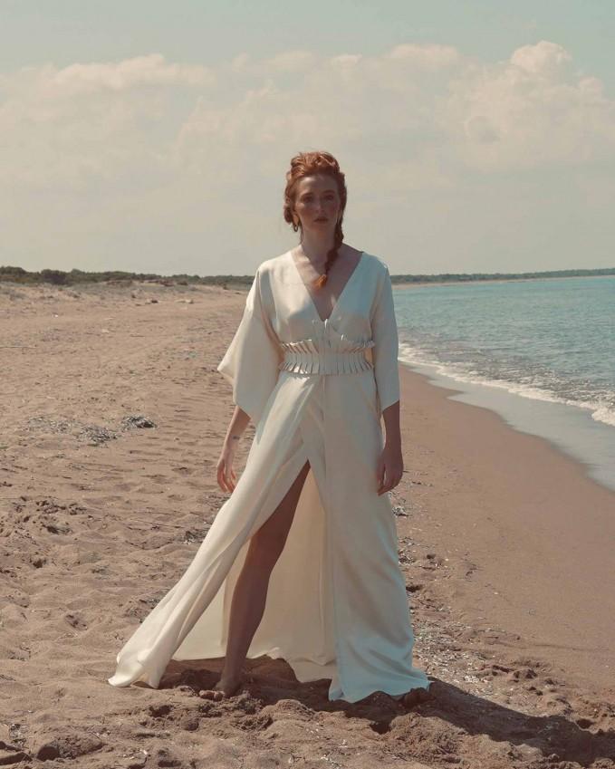 Silk kimono wedding dress ATHENA
