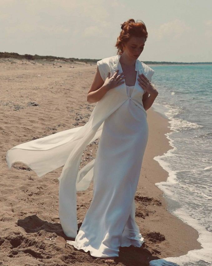 Silk modern bridal waistcoat EROS