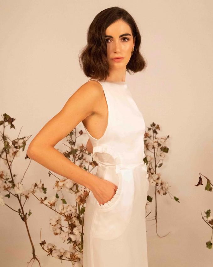 Silk pencil wedding dress ARETHOUSA
