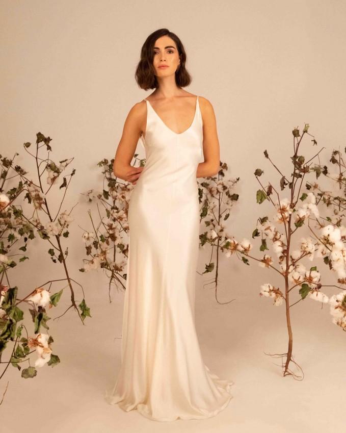 Silk slip wedding dress AFRODITE