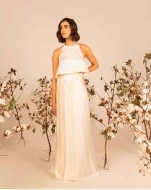 Silk wrapped wedding skirt SELINI