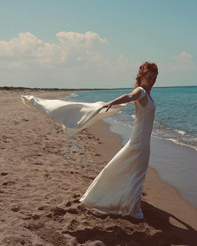 Silk bridal waistcoat ARIADNE